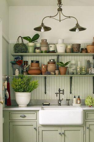 "Country Kitchen with Alfi brand 23.5"" x 16"" farmhouse kitchen sink, Apron front single bowl sink"