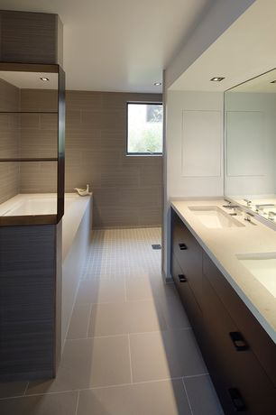 Contemporary Master Bathroom with Undermount sink, Quartz counters, European Cabinets, Master bathroom, Flush, Quartz