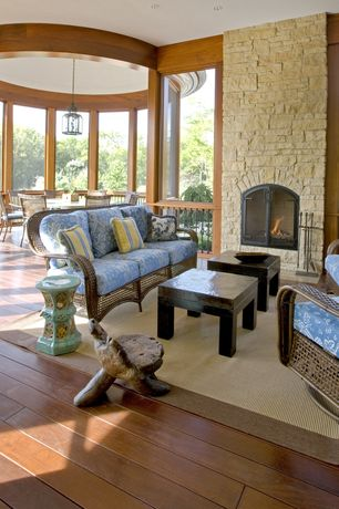 Eclectic Porch with Wrap around porch