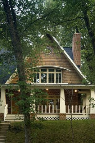 Craftsman Porch with Screened porch, Pathway, Arched window