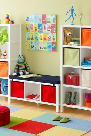 Contemporary Playroom with Laminate floors