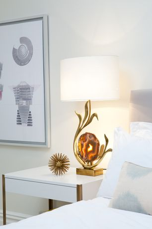 Contemporary Master Bedroom with Kelly wearstler: classic kaleidoscope sclulpture