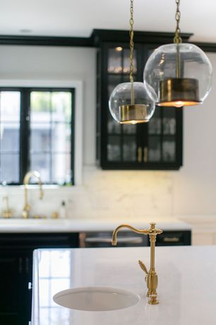 Contemporary Kitchen with Sonneman - Tribeca 10in Pendant Light, Pendant light, kitchen faucet sink single handle tap