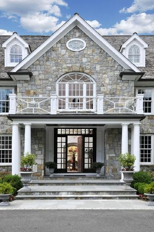 Traditional Exterior of Home with exterior stone floors, Portsmouth Granite Square & Rectangular