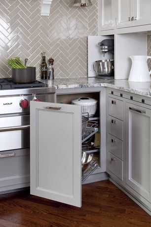 Contemporary Kitchen with Blind corner cabinet pullout premiere