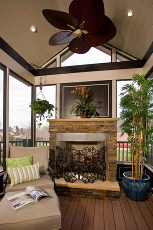 Tropical Porch with Fanimation fp320pw pewter fanimation islander 5 blade ceiling fan with ac motor, Screened porch