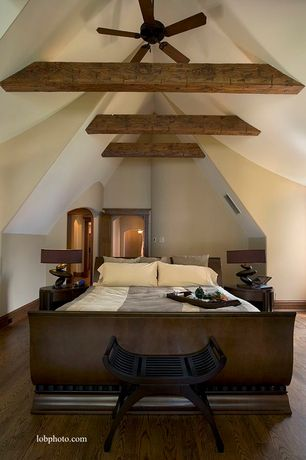 Modern Master Bedroom with Asian Wooden Leather Curved Seat Bench Stool Black Furniture D, Wilmington Queen Sleigh Bed