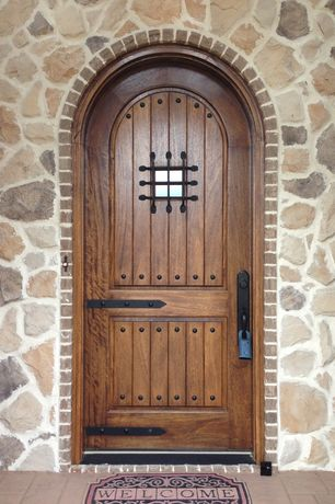 Traditional Front Door with exterior tile floors, Arched door, Extraordinary Doors Exterior Arched Door with Window #015