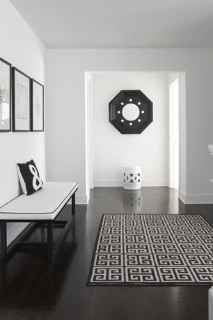 Modern Entryway with Safavieh Stencil Blossom Garden Stool, Laminate floors