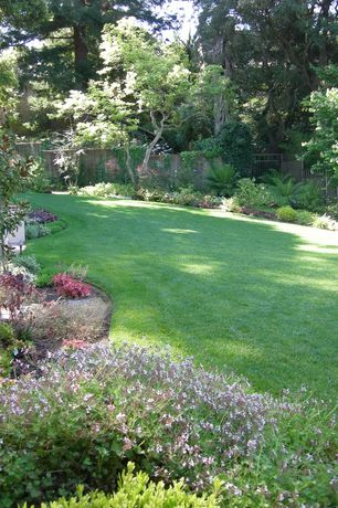 Traditional Landscape/Yard with Raised beds, Fence