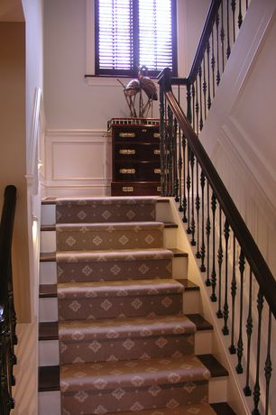 Traditional Staircase with Hardwood floors, Chair rail