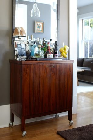Contemporary Bar with Crate and Barrel Marin Bar Cabinet