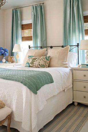 Traditional Master Bedroom with Chandelier, One kings lane - hope 3-drawer nightstand, white, Hardwood floors