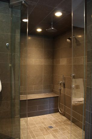 "Contemporary Master Bathroom with Handheld showerhead, Master bathroom, Kohler - Contemporary Round 10"" Rainhead, Rain shower"