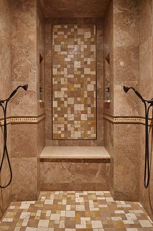 Mediterranean Master Bathroom with Vintage style 5-spray wall-mount hand shower in venetian bronze-75525rb at the home depot