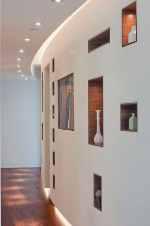 "Modern Hallway with Virginia Vintage 5"" Engineered Hickory Flooring in Autumn"