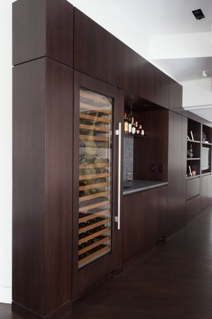Contemporary Bar with Hardwood floors, High ceiling