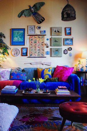 Eclectic Living Room with Ikea ULLKAKTUS Cushion, dark pink, Standard height, Carpet, Paint 1