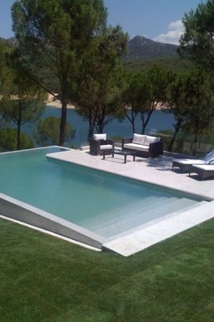 Modern Swimming Pool with Deck Railing, Other Pool Type
