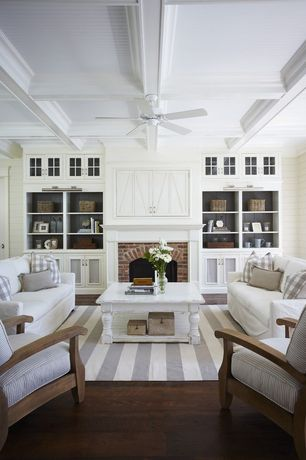 Cottage Living Room with Riverside Furniture Placid Cove Coffee Table, Jaipur Rug, Santa Monica Luxe Lounge Chair