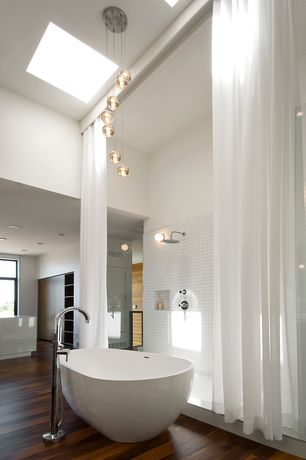 Modern Master Bathroom with Kos freestanding muse bath, Daltile Natural Hues Ceramic Floor & Wall Tile