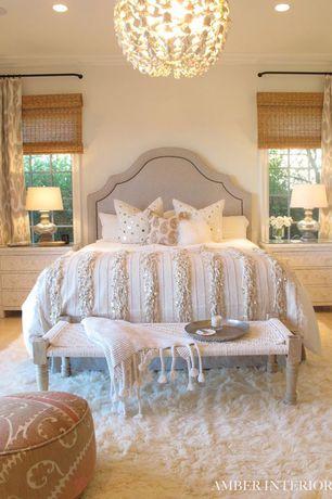 Master Bedroom with Chandelier, Crown molding, Carpet