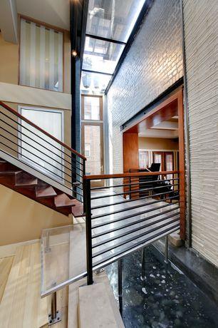 "Contemporary Hallway with High ceiling, Lumber liquidators custom r.l. colston  3/4"" x 3 1/4"" maple hardwood flooring"