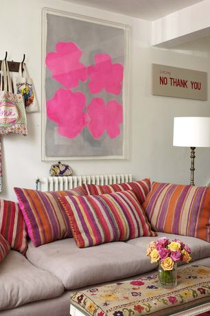 Eclectic Living Room with Paint, The Pillow Collection Usinsk Stripes Pillow