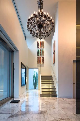 Modern Hallway with Pental - Bordeaux River Polished Granite