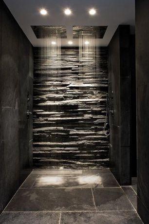 Master Bathroom with Alfi Brand Brushed Stainless Steel 1.85 GPM Rain Shower Head, no showerdoor, Rain shower, Shower