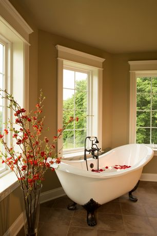 Traditional Master Bathroom with Overstock spa collection 59-inch bateau clawfoot tub and shower pack