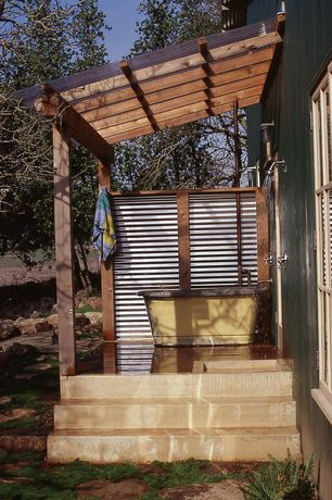 Country Porch with Paint 2, Paint, Screened porch, Signature hardware economy exposed outdoor shower kit with foot shower