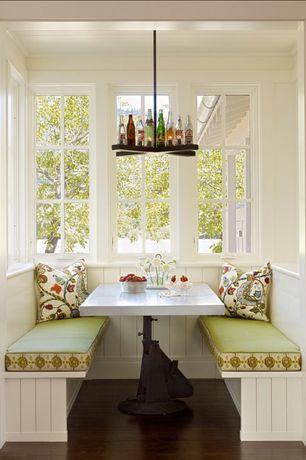 Cottage Kitchen with Breakfast nook, Laminate floors, Standard height, Casement