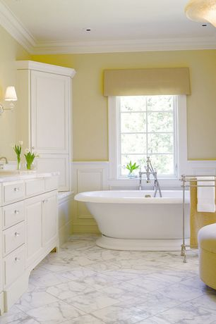 Traditional Full Bathroom with flush light, Standard height, Complex marble counters, complex marble tile floors, Casement