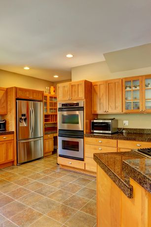 Craftsman Kitchen with U-shaped, Ms international autumn harmony granite, Design House Art Glass 1 Light Pendant, Glass panel