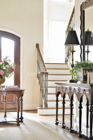 Traditional Entryway with Hooker Furniture Decorator Hall Console Table, Cole + Company Premier Mirror, Hardwood floors
