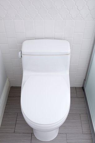 Contemporary Full Bathroom with Daltile Natural Hues Ceramic Floor & Wall Tile, Daltile Fabrique Gris Linen Porcelain Tile