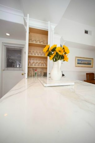 Traditional Kitchen with Vermont marble and granite countertop, Paint