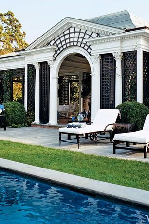Traditional Patio with exterior tile floors