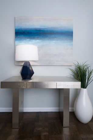Contemporary Entryway with Robert Abbey Delta Marine Table Lamp