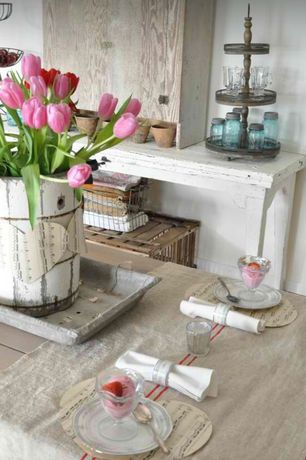 Rustic Dining Room with Shabby chic