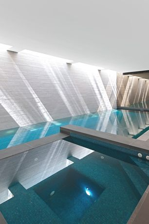 Contemporary Swimming Pool with exterior tile floors, Pathway, Indoor pool