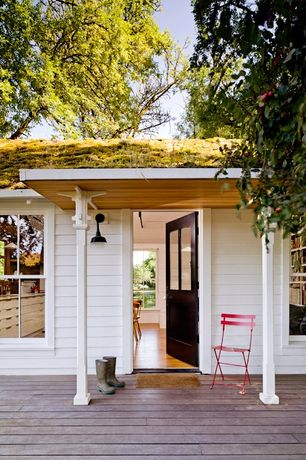 Cottage Front Door with double-hung window, Glass panel door
