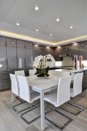 Contemporary Kitchen with U-shaped, Flush, Simple Granite Tile, Destiny: acrilux cabinets, European Cabinets, Undermount sink