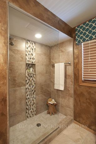 Contemporary 3/4 Bathroom with MS International Citadel Blend Mesh Mounted Mosaic Tile