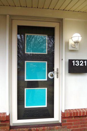 Modern Front Door with Glass panel door, Paint 1, Three panel door, Paint 2