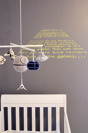 Contemporary Kids Bedroom with Etsy may the force be with you - star wars mobile, Paint 1, Paint 3, Wall stencil, Nursery