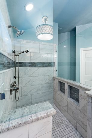 Traditional Master Bathroom with flush light, Master bathroom, Handheld showerhead