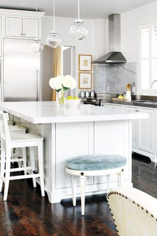 Traditional Kitchen with International concepts dining essentials bar stool - finish: linen white, Flat panel cabinets, Flush