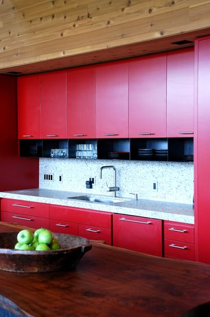 Modern Kitchen with Paint 1, Jeffrey Alexander 635-160 Pull Sutton Collection, full backsplash, Simple granite counters